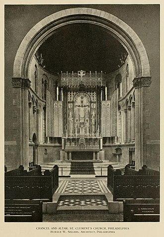 Edward Maene - Altar and chancel (1908-09), St. Clement's Episcopal Church.