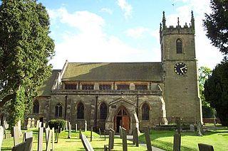 Yoxall village in United Kingdom