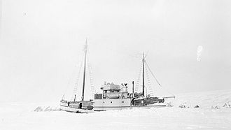 St. Roch (ship) - St. Roch wintering in the Beaufort Sea.