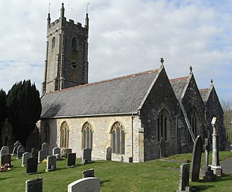 Tamerton Foliot - St. Mary's Church, Tamerton Foliot, view from SE