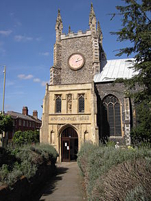 St Michael at Plea, Norwich - through lavender.jpg