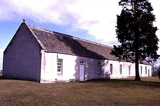 Clandestine church - St. Ninian's Church, Tynet, a rural clandestine Catholic church built to resemble a barn
