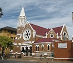 The St Andrew's Presbyterian Congregation was established in 1890 and its early history is closely interwoven with that of Germiston itself. The corner-stone of the present well preserved church building, which was designed in the neo-Gothic style, was la Type of site: Church