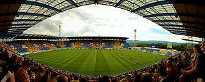 Na Stínadlech - Image: Stadion Na Stínadlech (uvnitř)