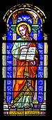 Stained-glass window of the Saint Anianus collegiate church of Saint-Aignan 03.jpg