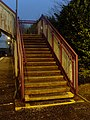 Stairs to other platform at Drumry Station - geograph.org.uk - 693320.jpg