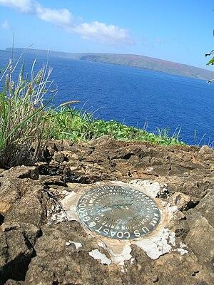 Molokini - U.S. Coast & Geodetic Survey marker on Molokini