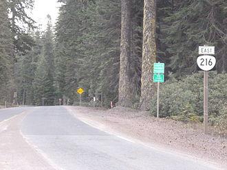 Oregon Route 216 - Start of Oregon Route 216