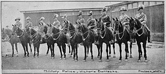 Victoria Barracks, Brisbane - Military police at Victoria Barracks, Brisbane, 1916