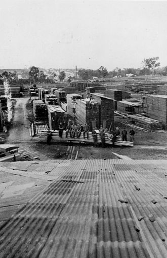 Enoggera, Queensland - Carrick's Sawmill at Enoggera, c. 1922