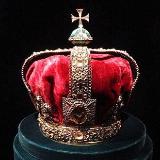 State Crown of George I - Empty frame at the Tower of London
