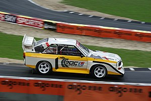 Stig Blomqvist - Blomqvist driving a Quattro at the 2007 Race of Champions