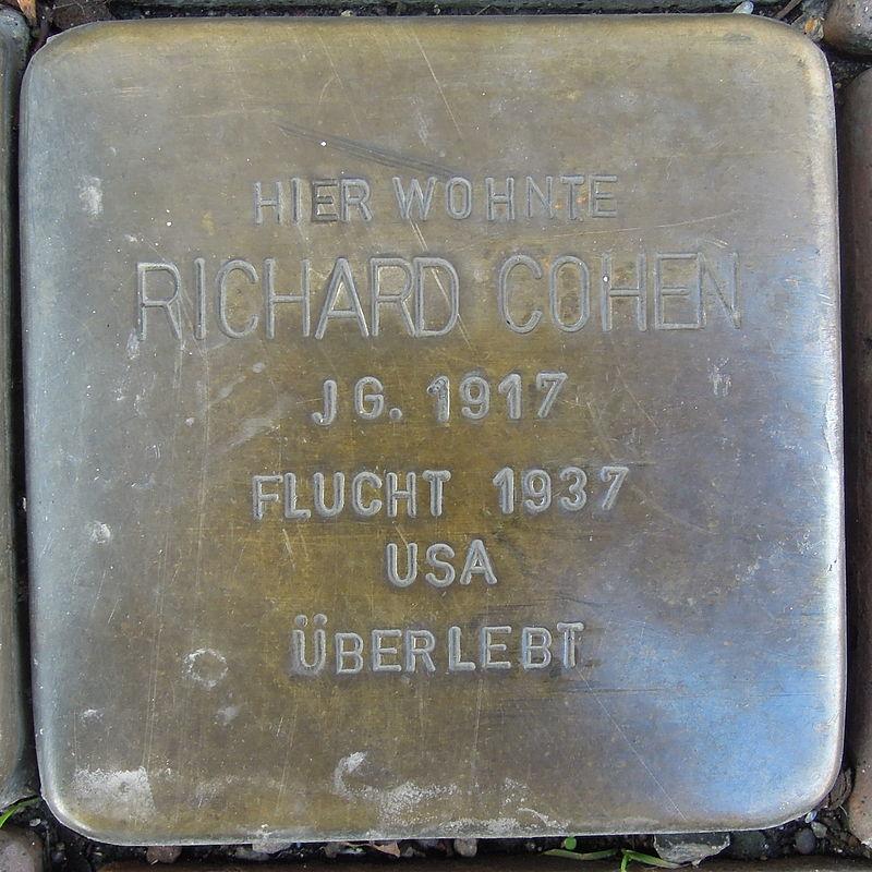 Stolperstein für Richard Cohen