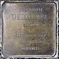 Stolperstein Bayernallee 19a (Weste) Theodor Weil.jpg