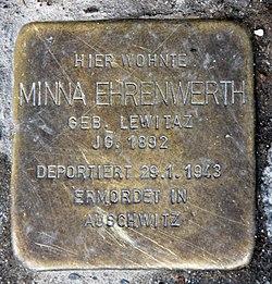 Photo of Minna Ehrenwerth brass plaque