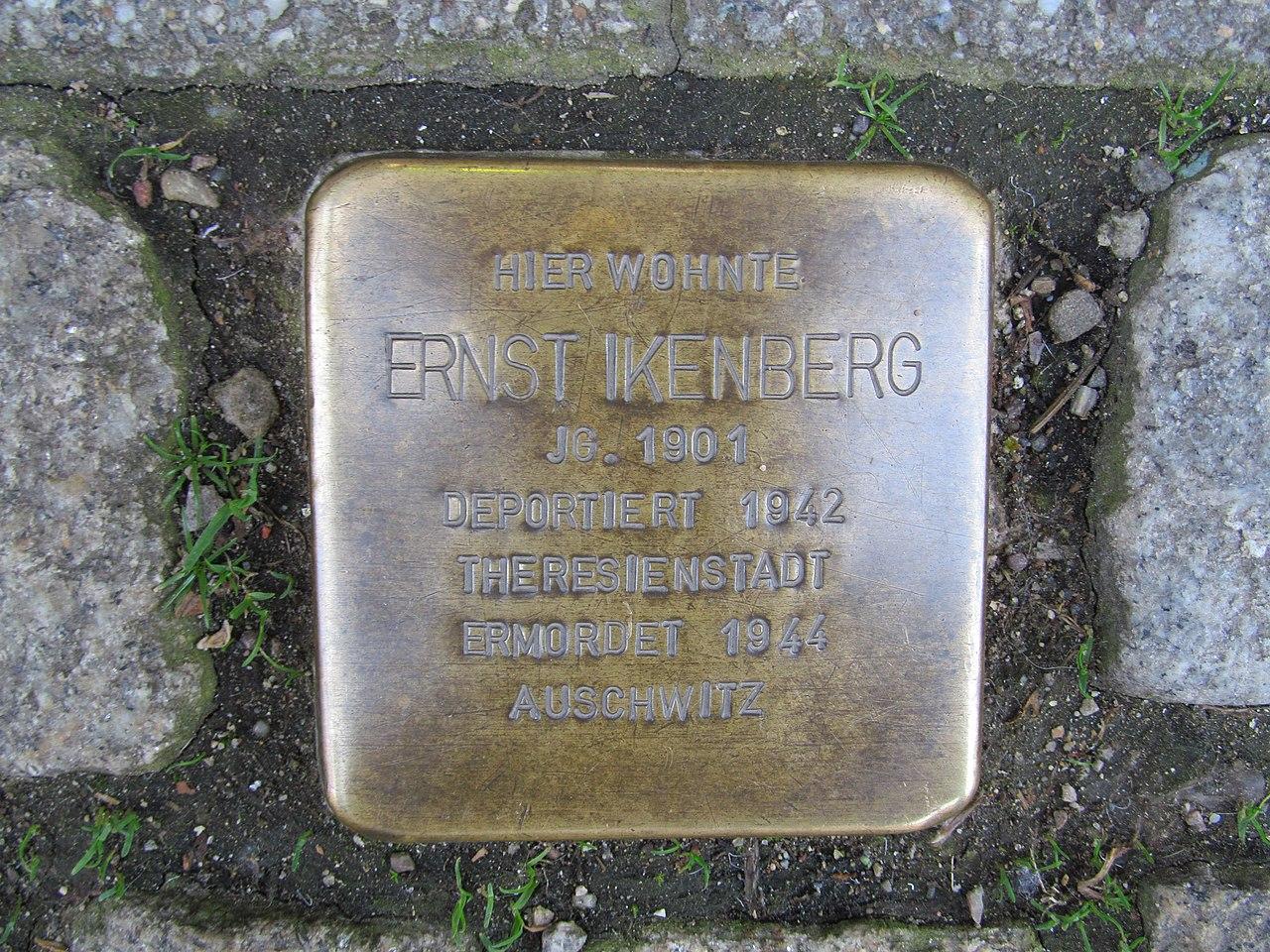 Stolperstein Ernst Ikenberg, 1, Göpenstraße 13, Sangerhausen, Landkreis Mansfeld-Südharz.jpg
