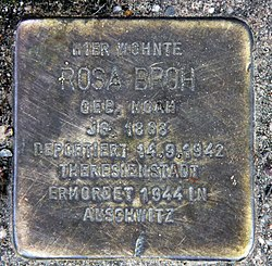 Photo of Rosa Broh brass plaque