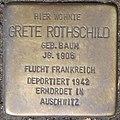 Stolperstein Grete Rothschild, Düsseldorf, Immermannstraße 66 (heute Konrad-Adenauer-Platz 1).jpg