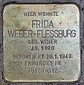 Stolperstein Hektorstr 3 (Halsee) Frida Weber-Flessburg.jpg