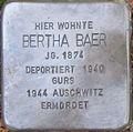 Stolperstein Karlsruhe Baer Bertha.jpeg