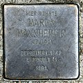 Stolperstein Kommandantenstr 62 (Kreuz) Marga Mannheimer.jpg
