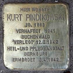 Photo of Kurt Pindikowski brass plaque