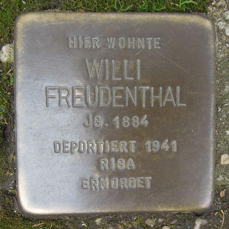 Stolperstein für Willi Freudenthal