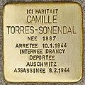 Stolperstein für Camille Torres-Sonendal (Libourne).jpg