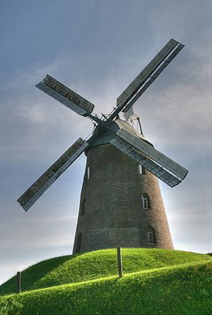 Stommeln - The town's landmark: a windmill