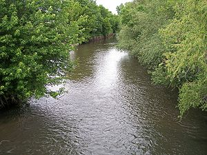Straight River (southern Minnesota) - The Straight River in Owatonna in 2007