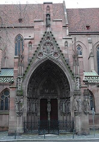 Saint-Pierre-le-Jeune Protestant Church - Main portal