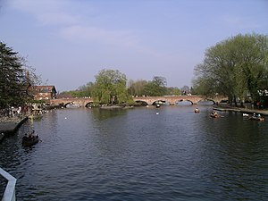 River Avon, Warwickshire - The River Avon by the Royal Shakespeare<br />Theatre in Stratford-upon-Avon