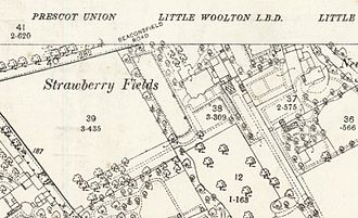 Strawberry Field - Strawberry Fields as it was shown on the 25-inch Ordnance Survey of 1891