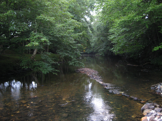 Avery County, North Carolina - Stream within a Linville community