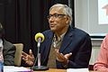 Sukanta Chaudhuri - Panel Discussion - Collaboration with Academic Institutes for the Growth of Wikimedia Projects in Indian Languages - Bengali Wikipedia 10th Anniversary Celebration - Jadavpur University - Kolkata 2015-01-10 3441.JPG