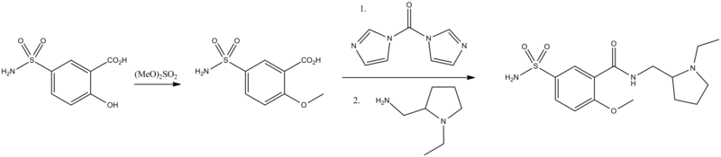 Sulpiride synthesis.png
