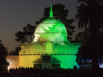 Summer of Love - Illumination of the Conservatory of Flowers on June 21st, 2017