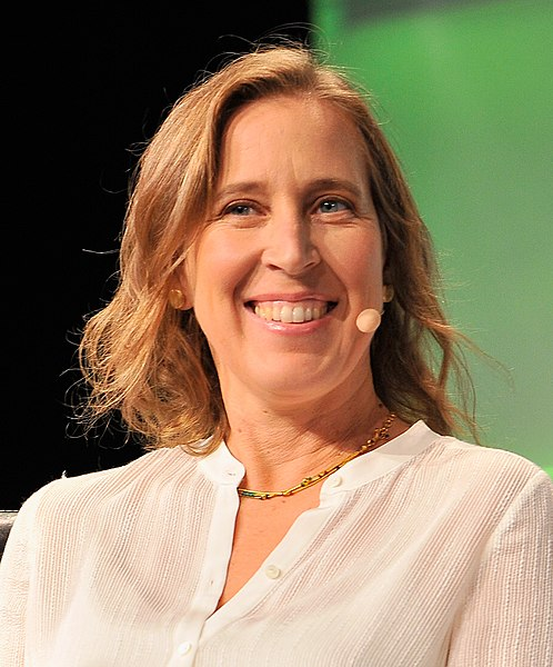 File:Susan Wojcicki (29393944130) (cropped).jpg Description English: speaks onstage during TechCrunch Disrupt SF 2016 at Pier 48 on September 14, 2016 in San Francisco, California.