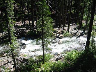 Trinity Alps - Swift Creek viewed from footbridge in July 2005