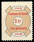Switzerland Renens 1915 revenue 6 3Fr - 37.jpg