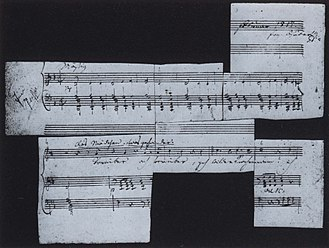 String Quartet No. 14 (Schubert) - Original manuscript of Death and the Maiden
