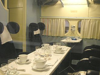 Short Solent - Interior of TEAL Solent preserved at Museum of Transport and Technology in Auckland.