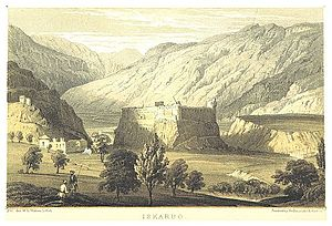 Skardu Fort - General view of Skardu Fort in 1850