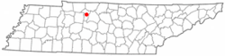 Location of Ashland City, Tennessee