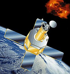Artist's illustration of TRACE in orbit