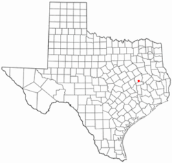 Location of Leona, Texas