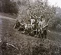 Tableau, hunter, hunting, hillside Fortepan 92427.jpg