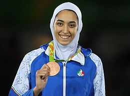 Taekwondo at the 2016 Summer Olympics women Kimia Alizadeh.jpg