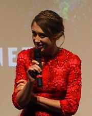 Farmiga on stage at the Toronto premiere of The Final Girls