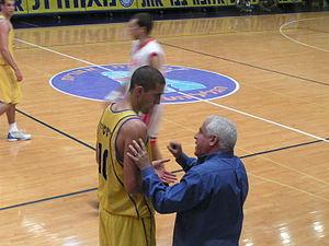 Tal Burstein - Burstein with Maccabi's former coach, Pini Gershon